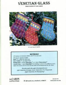 "C011 - ""Venetian Glass"" Xmas Socks Charted Design"