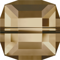 Style 5601 Cube Bead 4mm Crystal Golden Shadow