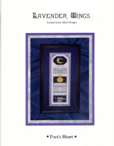 """LW001 - """"Poet's Heart"""" Counted Cross Stitch Design"""