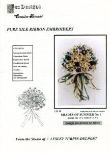 """LTD001 - """"Shades of Summer No.1"""" Silk Ribbon Embroidery Kit"""