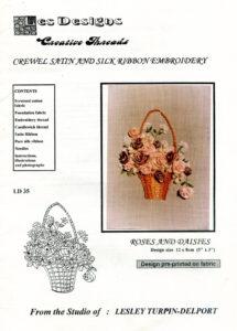 "LTD002 - ""Roses and Daisies"" Silk Ribbon Embroidery Kit"