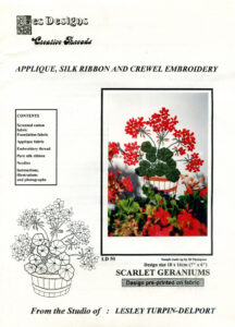 """LTD003 - """"Scarlet Geraniums"""" Applique and Embroidery Kit"""