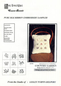 "LTD004 - ""Country Garden"" Silk Ribbon Embroidery Kit"