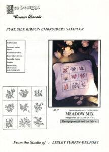 """LTD005 - """"Meadow Mix"""" Silk Ribbon Embroidery Kit"""