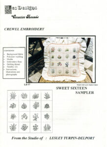"LTD007 - ""Sweet Sixteen"" Crewel Embroidery Kit"