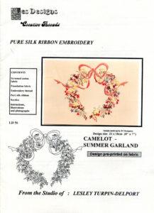 "LTD008 - ""Camelot - Summer Garland"" Silk Ribbon Embroidery Kit"