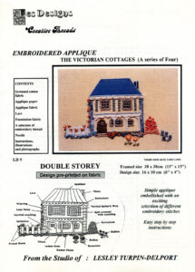 """LTD009 - """"Double Storey Victorian Cottage"""" Applique and Embroidery Kit"""