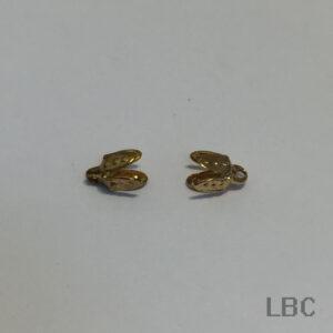 W-84g - 4mm Leaf Bead Cap - Gold - 100pcs.