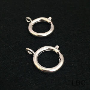 W-9003s - 18mm Bolt Ring Clasp - Silver - 100pcs.