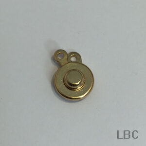 W-9025g - Small Lock-over Clasp and Tag - Gold - 100pcs.