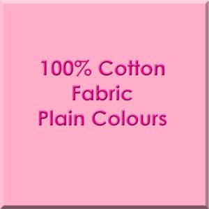 Plain Coloured Cotton Fabric